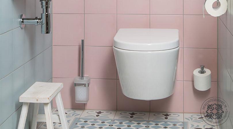 Rosa Celeste Palau Toilet | Vintagetegelwinkel.nl