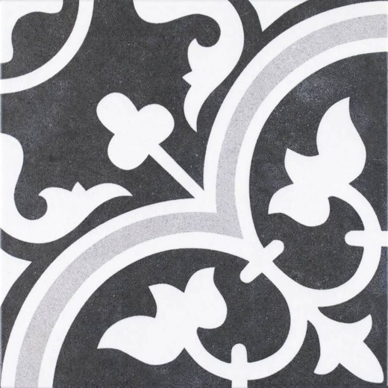 Retrotegel Arte Negro Grey | Retrotegelwinkel.nl