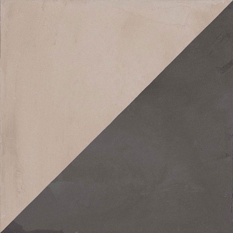 Keramische Retrotegel Triangolo Graphite | Retrotegelwinkel.nl