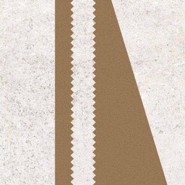 Keramische Patroontegel Kabo Blanco Gold | Retrotegelwinkel.nl